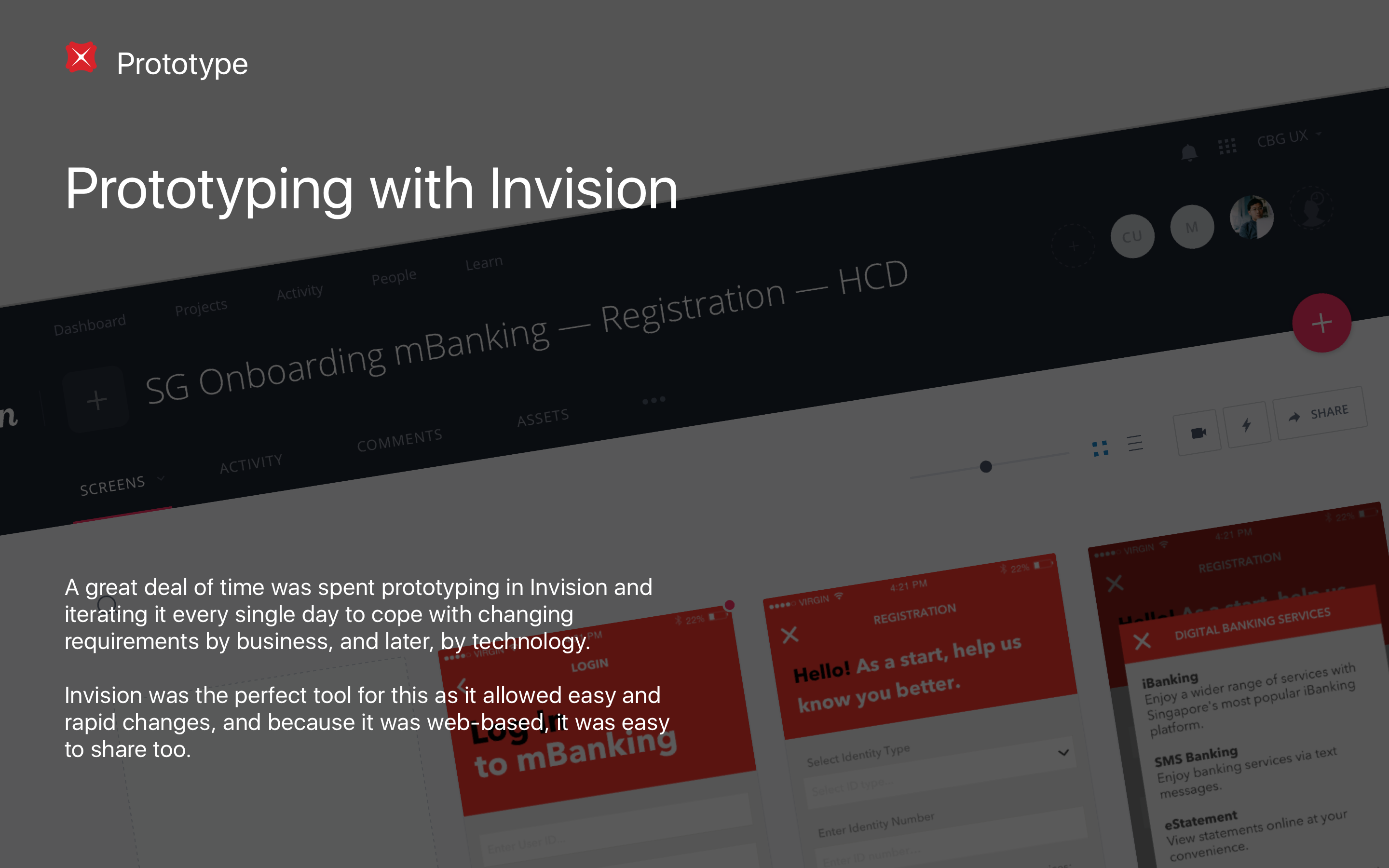 Prototyping with Invision
